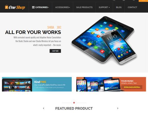 One Shop Responsive Template